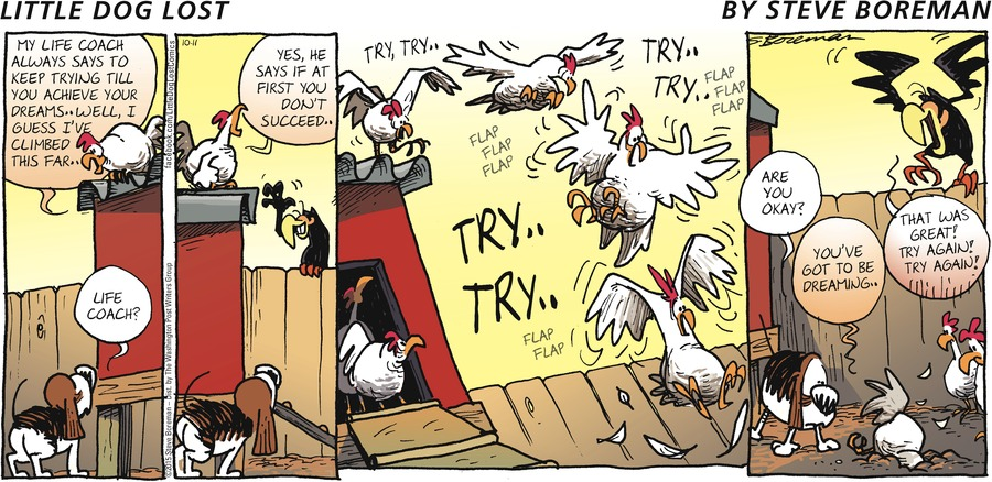 Little Dog Lost Comic Strip for October 11, 2015