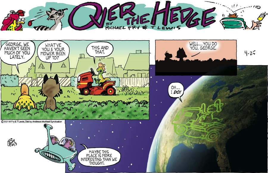 Over the Hedge by T Lewis and Michael Fry on Sun, 25 Apr 2021
