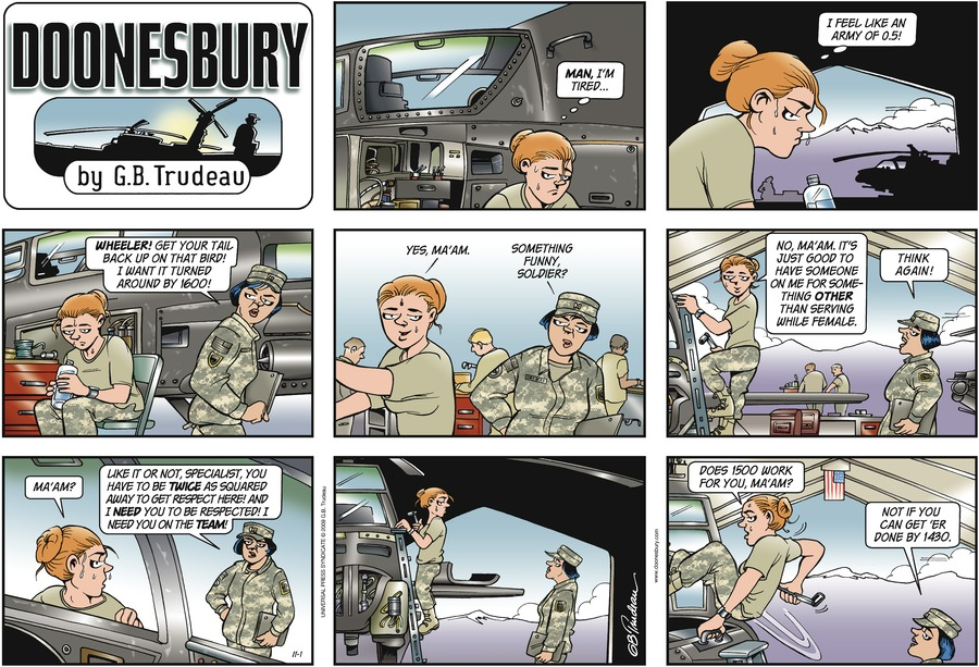 Doonesbury Comic Strip for November 01, 2009