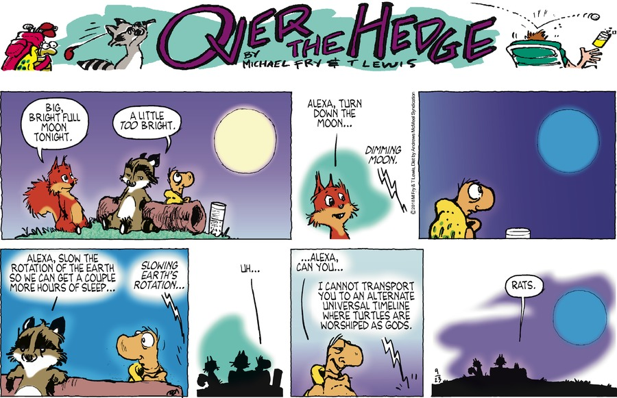 Over the Hedge Comic Strip for September 23, 2018