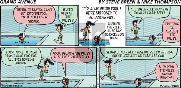 Grand Avenue on Sunday July 28, 2013 Comic Strip
