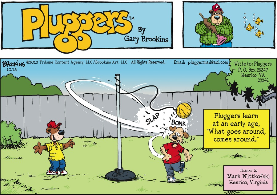 Pluggers for Oct 13, 2013 Comic Strip