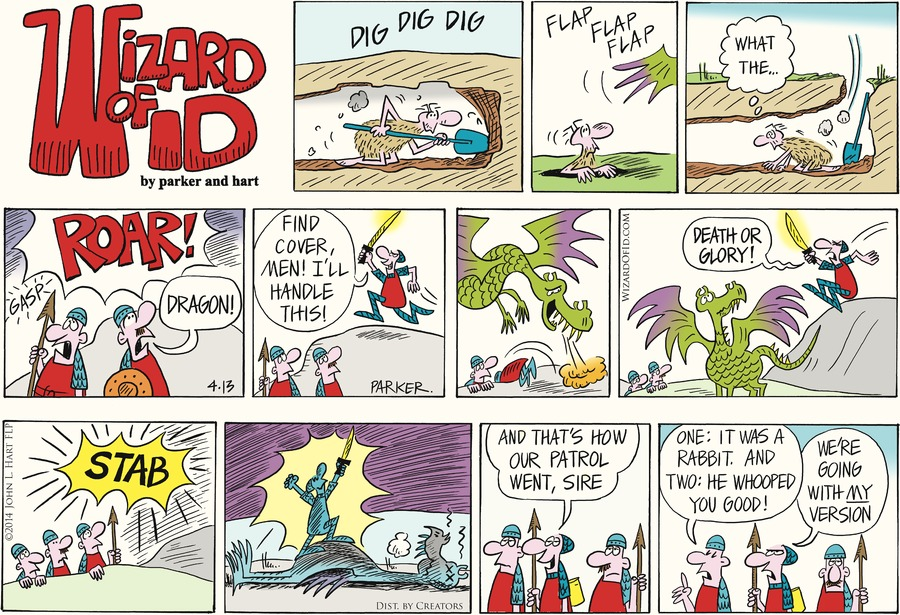 Wizard of Id Comic Strip for April 13, 2014