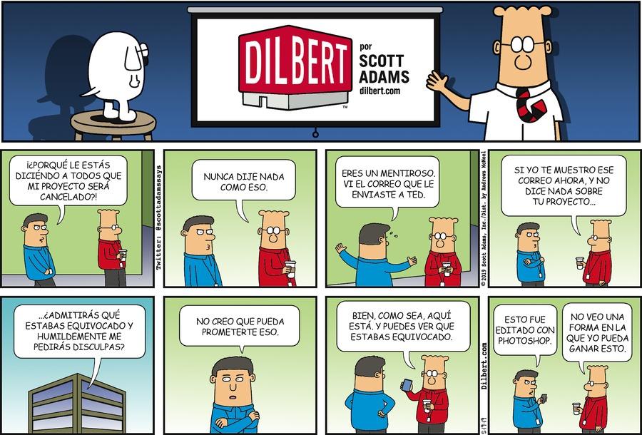 Dilbert en Español Comic Strip for May 19, 2019