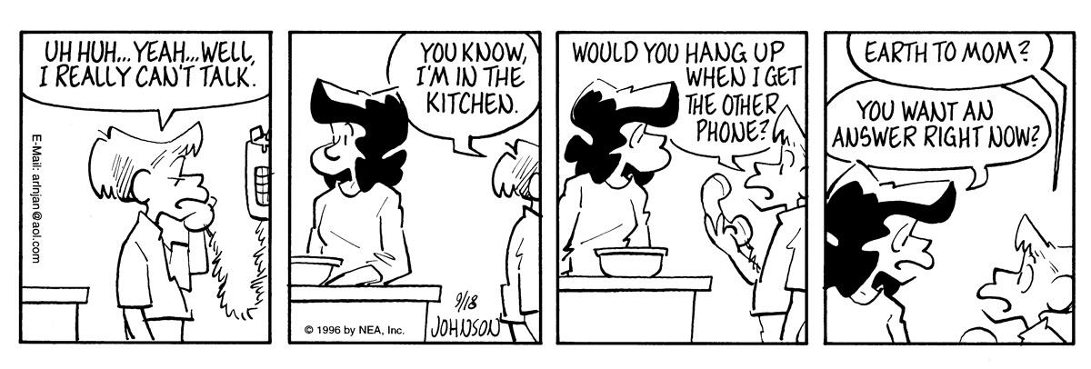 Arlo and Janis for Sep 18, 1996 Comic Strip