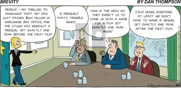 Brevity on Sunday April 12, 2020 Comic Strip