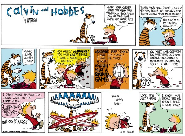 Calvin and Hobbes on Sunday January 25, 1987 Comic Strip