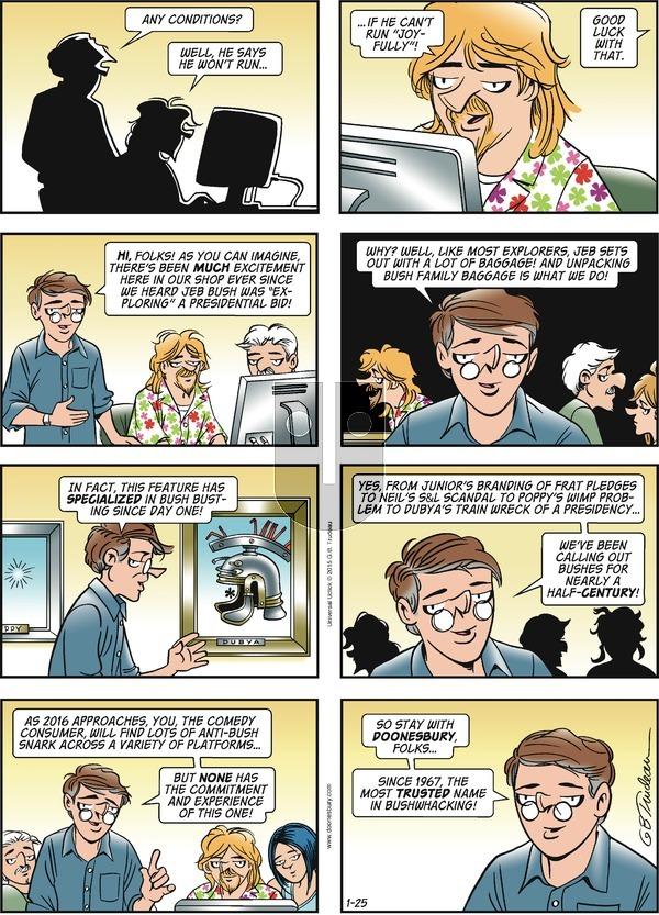 Doonesbury on Sunday January 25, 2015 Comic Strip