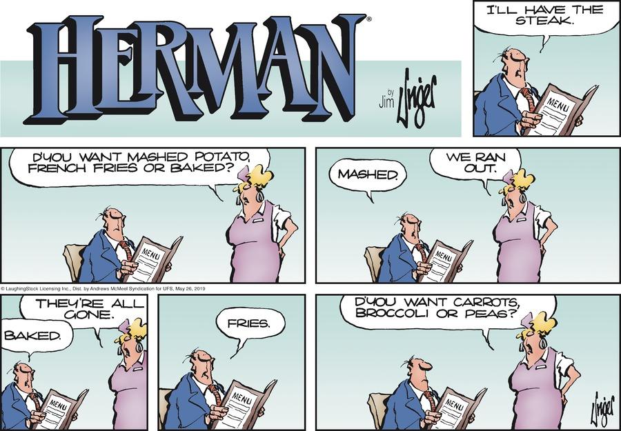 Herman Comic Strip for May 26, 2019