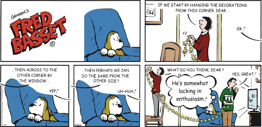 Fred Basset Comic Strip for December 06, 2020