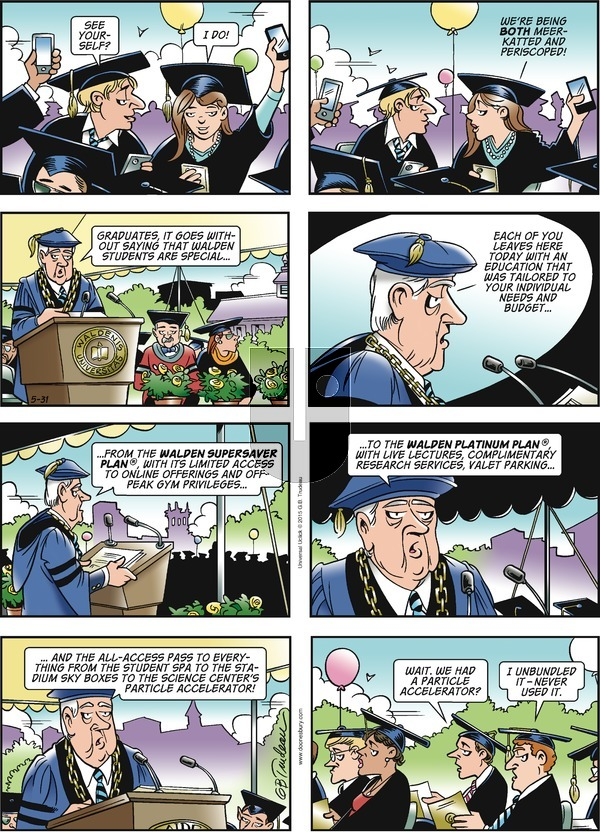 Doonesbury on Sunday May 31, 2015 Comic Strip