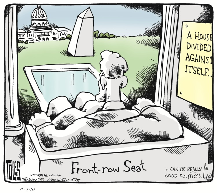 Tom Toles for Nov 7, 2010 Comic Strip