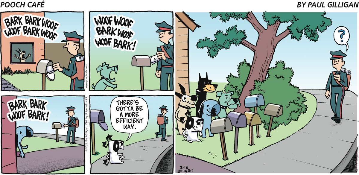 Pooch Cafe Comic Strip for March 18, 2012