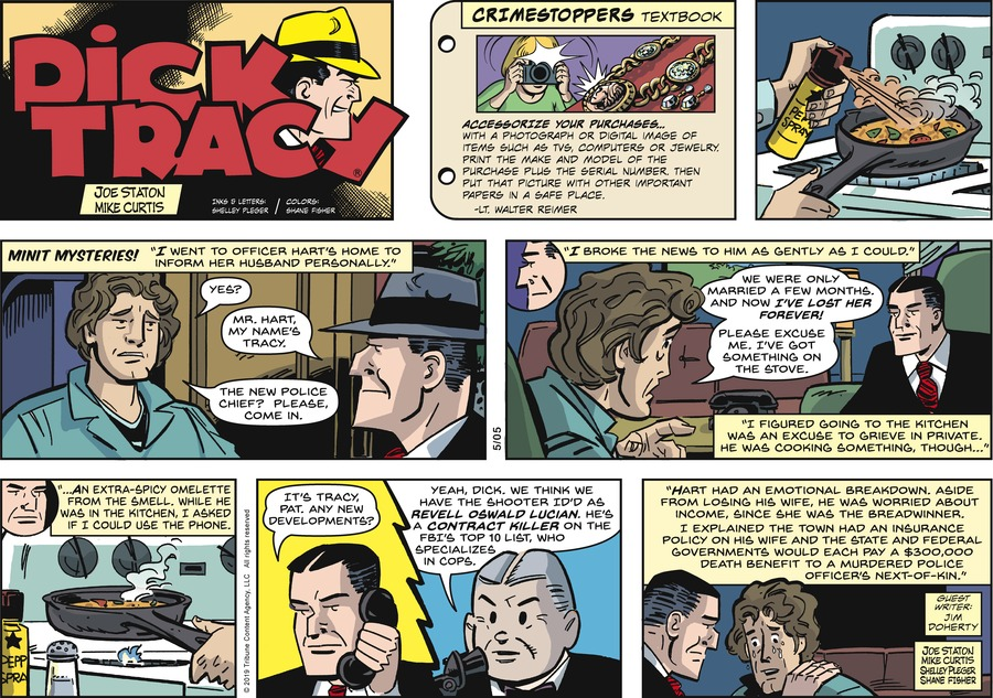 Dick Tracy by Joe Staton and Mike Curtis for May 05, 2019