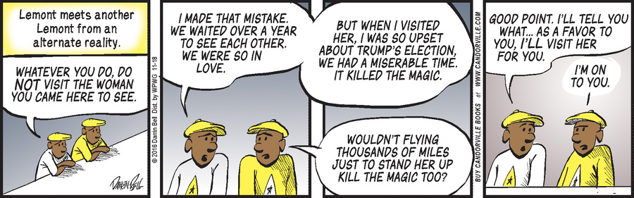 Candorville Comic Strip for November 18, 2016