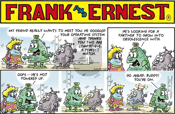 Frank and Ernest on Sunday September 27, 2020 Comic Strip