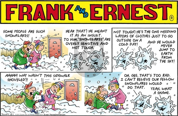 Frank and Ernest on Sunday December 1, 2019 Comic Strip