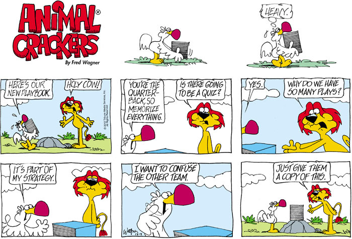 Animal Crackers Comic Strip for December 09, 2012