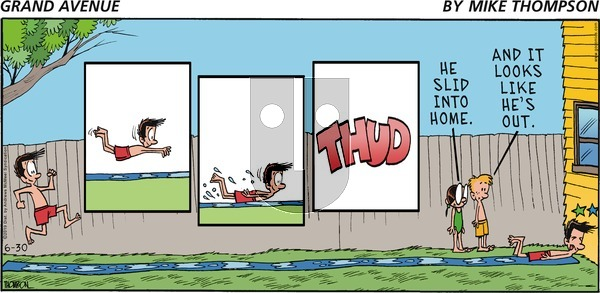 Grand Avenue on Sunday June 30, 2019 Comic Strip