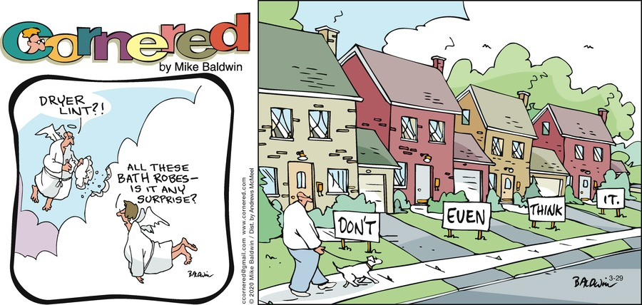 Cornered Comic Strip for March 29, 2020