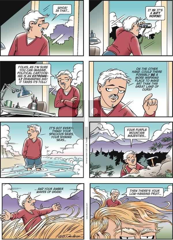 Doonesbury on Sunday July 26, 2015 Comic Strip