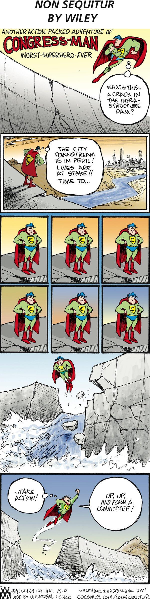 Non Sequitur for Oct 9, 2011 Comic Strip