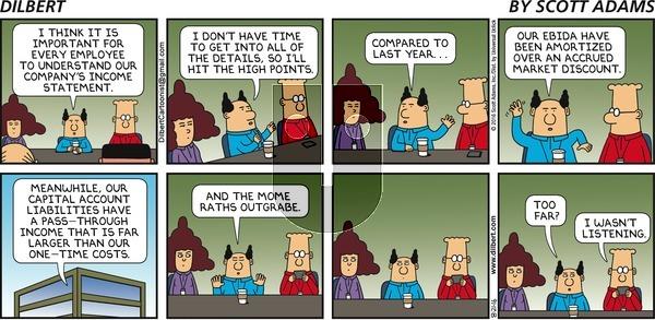 Dilbert on Sunday August 21, 2016 Comic Strip