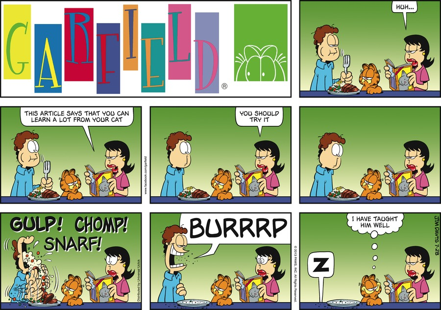 Liz:  Huh...  This article says that you can learn a lot from your cat.  You should try it.