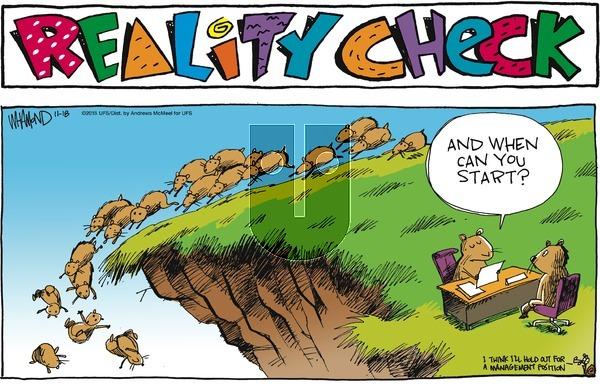Reality Check on Sunday November 18, 2018 Comic Strip