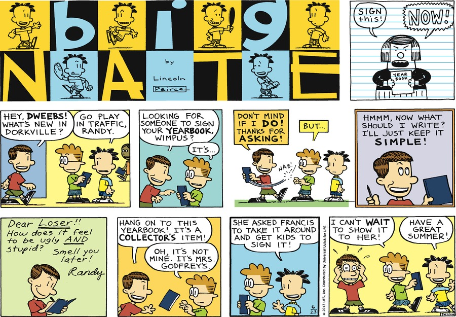 Big Nate Comic Strip for June 23, 2013