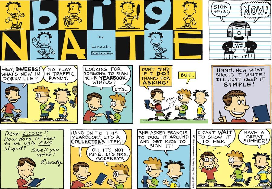 Big Nate for Jun 23, 2013 Comic Strip