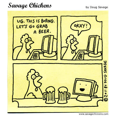Savage Chickens for Apr 15, 2015 Comic Strip