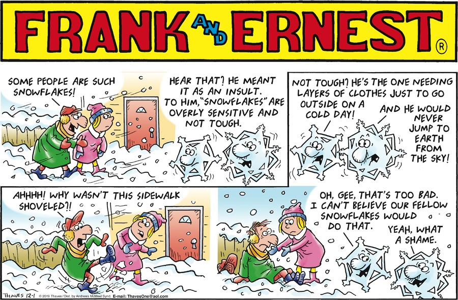 Frank and Ernest Comic Strip for December 01, 2019