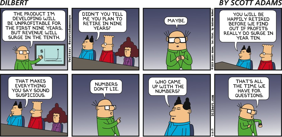 Wally Plans His Retirement - Dilbert by Scott Adams