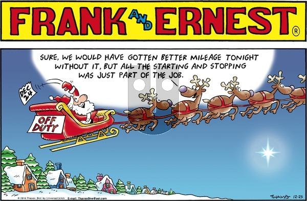 Frank and Ernest on Sunday December 25, 2016 Comic Strip