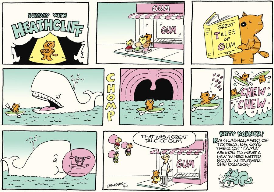 Heathcliff Comic Strip for August 01, 2021