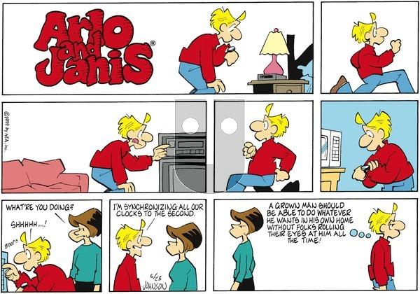 Arlo and Janis on Sunday May 23, 1999 Comic Strip