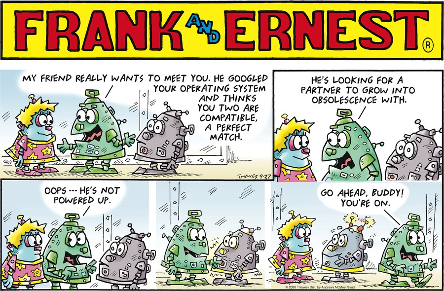 Frank and Ernest Comic Strip for September 27, 2020
