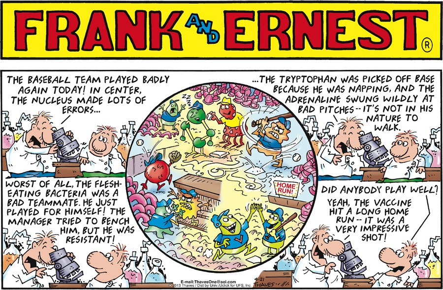 Frank and Ernest Comic Strip for April 21, 2013