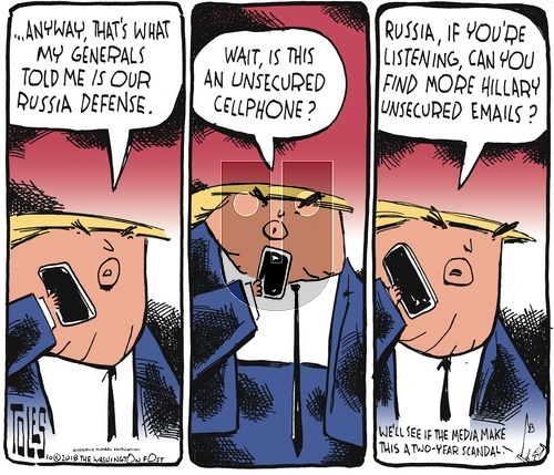 Tom Toles on Sunday October 28, 2018 Comic Strip