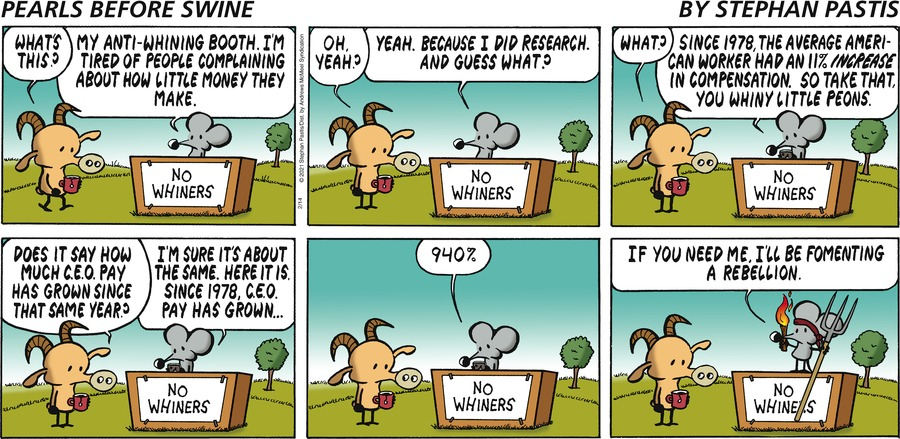 Pearls Before Swine by Stephan Pastis on Sun, 14 Feb 2021