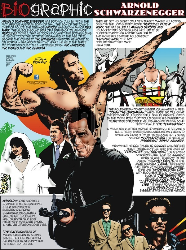 Biographic on Sunday August 5, 2012 Comic Strip