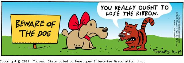 Frank and Ernest Comic Strip for October 19, 2001