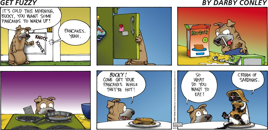 Get Fuzzy Comic Strip for August 25, 2019