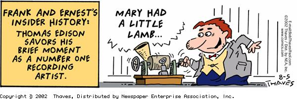 Frank and Ernest Comic Strip for August 05, 2002