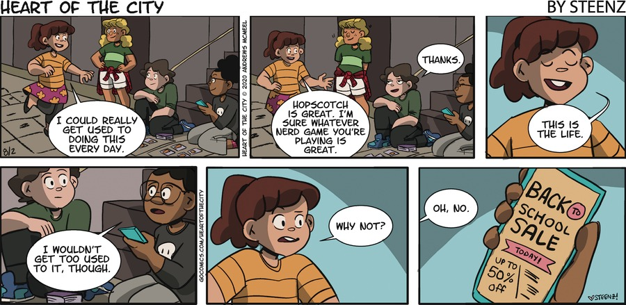 Heart of the City Comic Strip for August 02, 2020