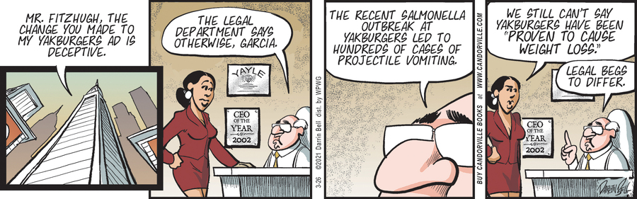 Candorville Comic Strip for March 26, 2021