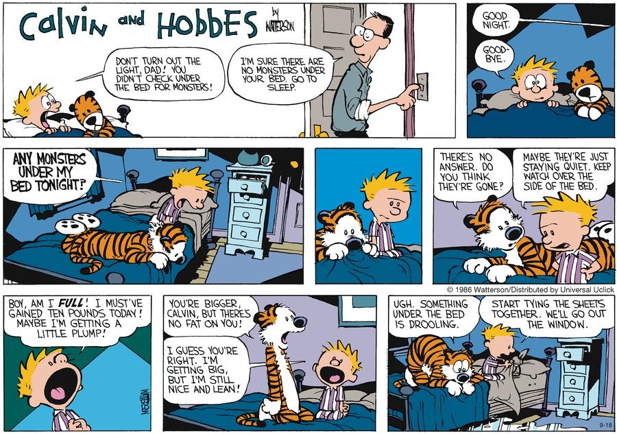 Calvin and Hobbes Comic Strip for September 18, 2016