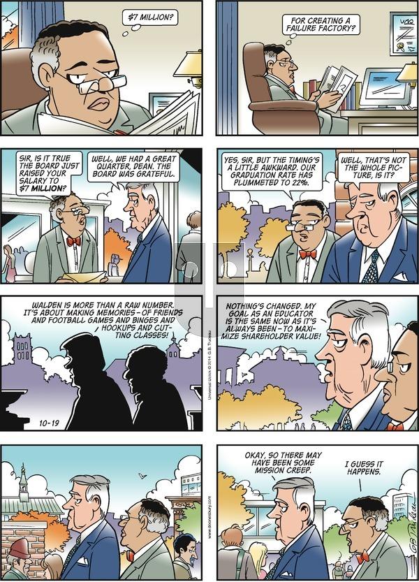 Doonesbury on Sunday October 19, 2014 Comic Strip
