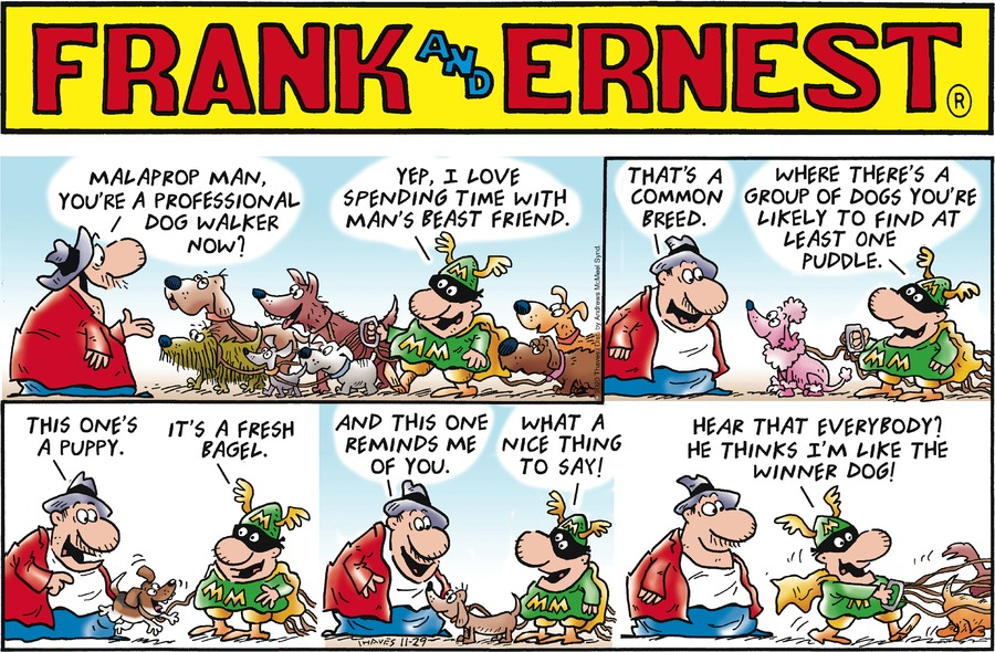 Frank and Ernest Comic Strip for November 29, 2020
